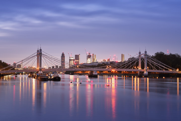 Photograph of Albert Bridge Dawn 1