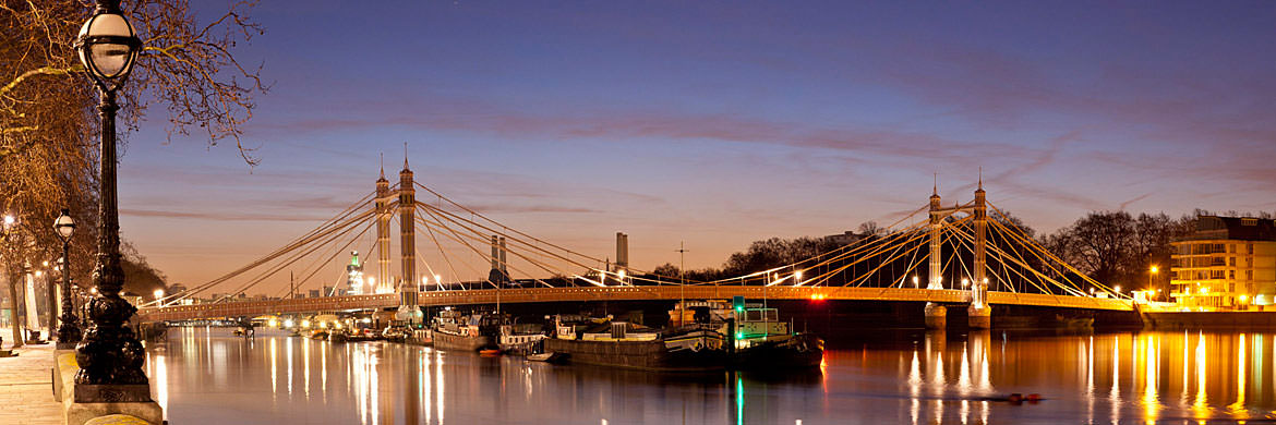Photograph of Albert Bridge Panorama 3