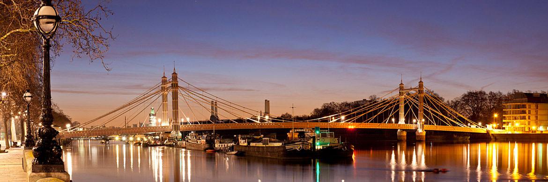 Photograph Of Albert Bridge Panorama 3 Panoramic London
