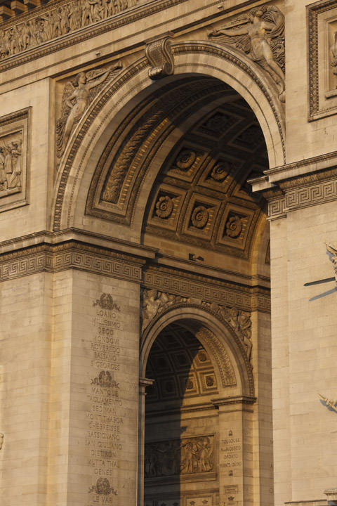 Photograph of Arc de Triomphe Detail 1