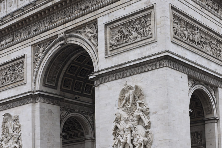 Photograph of Arc de Triomphe Detail 2