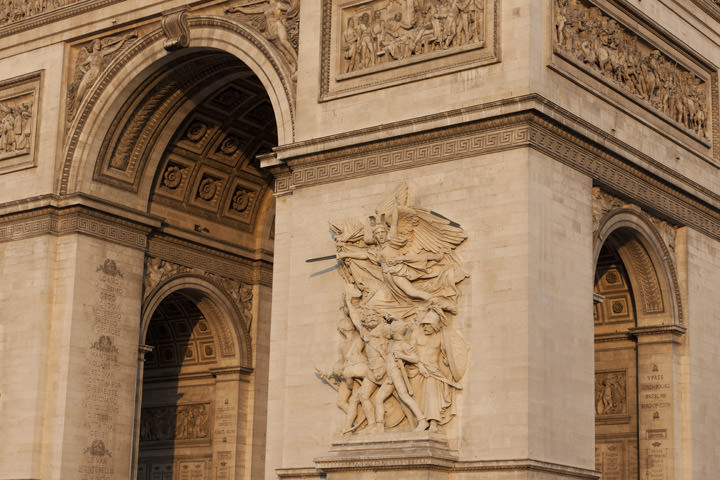Photograph of Arc de Triomphe Detail 3