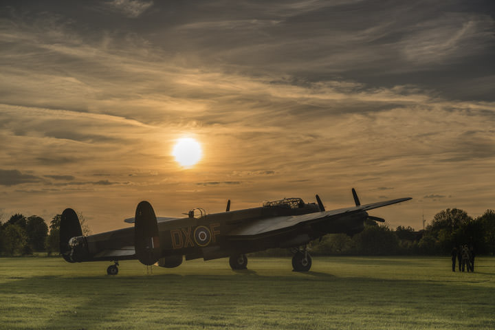 Photograph of Avro Lancaster Sunset
