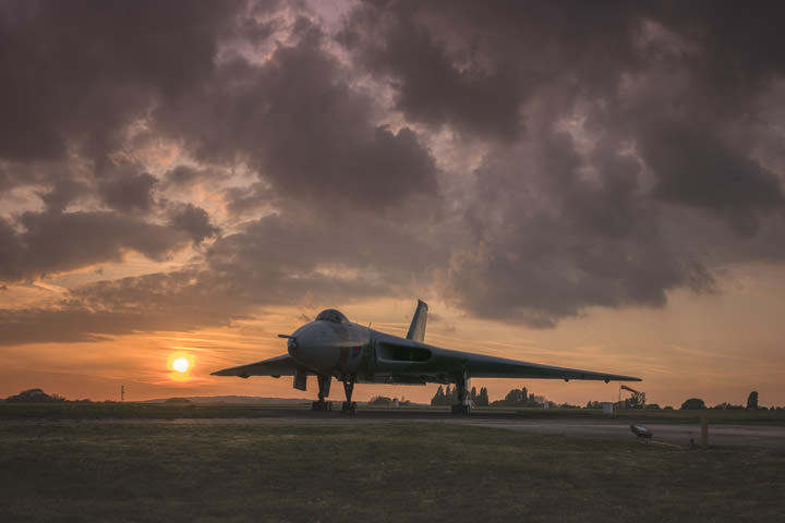 Avro Vulcan Sunset
