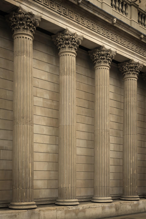 Photograph of Bank of England Columns 2