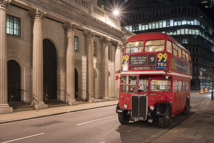 Photograph of Bank of England London Bus
