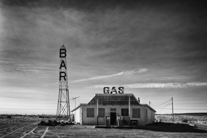 Bar and Gas Station -  Route 66 New Mexico