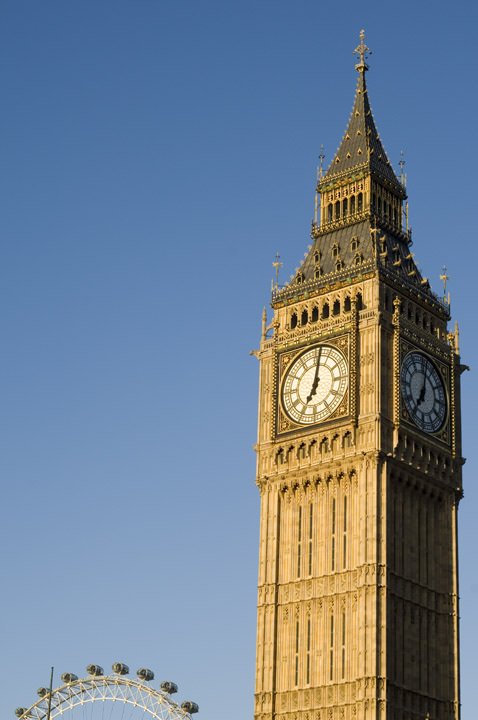 Photograph of Big Ben and London Eye 1