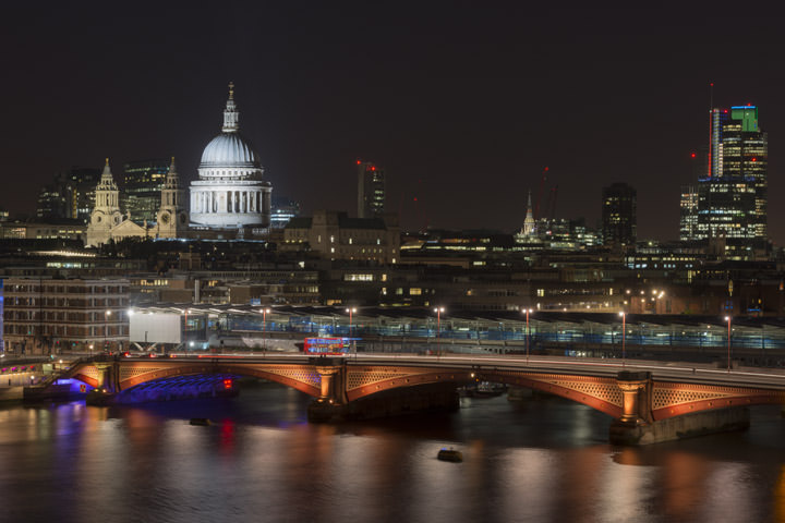 Photograph of Blackfriars Bridge and the City skyline 4