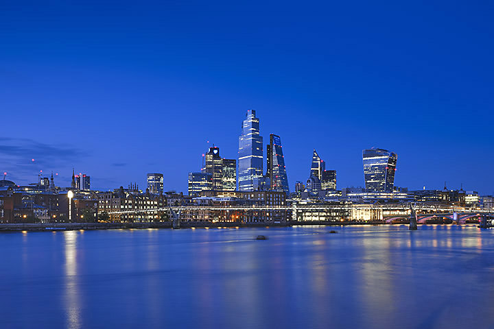 Blue London Cityscape 2