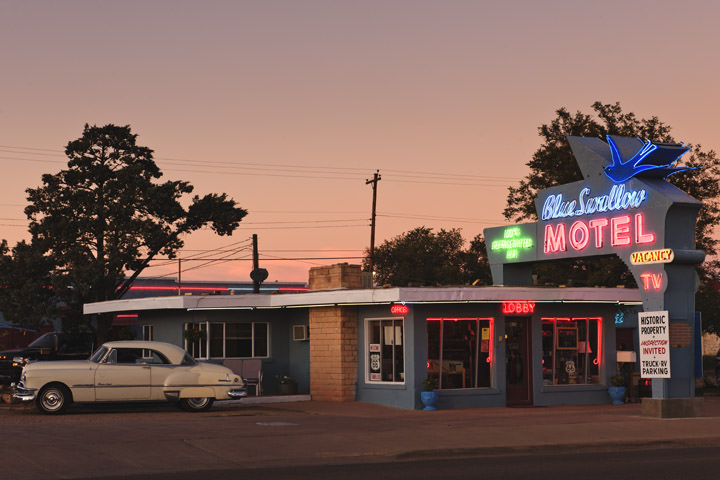 Photograph of Blue Swallow Motel - Pink Light