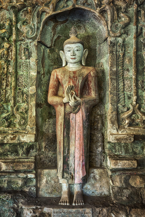 Photograph of Buddha Statue 2 Mrauk U