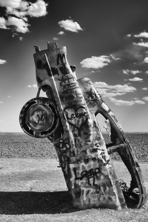 Photograph of Buried Cadillac - Route 66