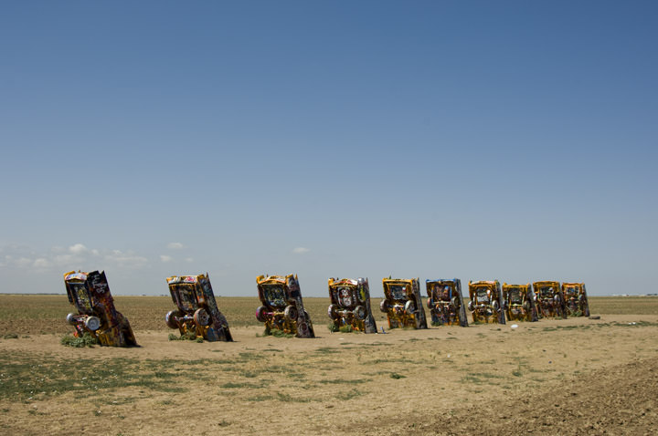 Photograph of Cadillac Ranch - Route 66