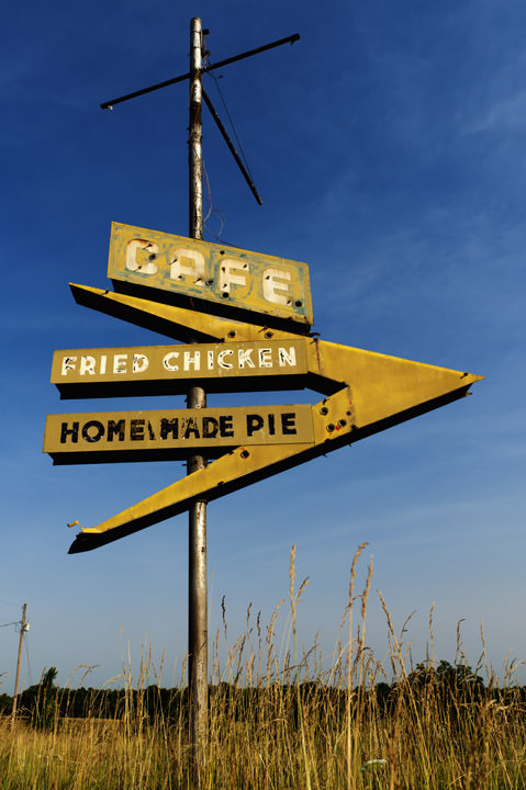 Photograph of Cafe sign - Route 66