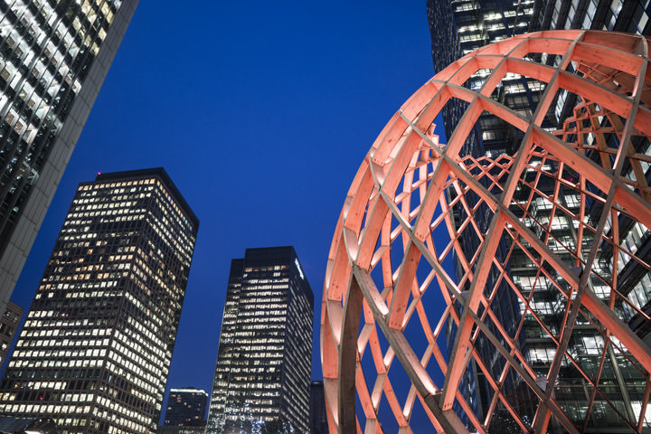 Photograph of Canary Wharf Lights
