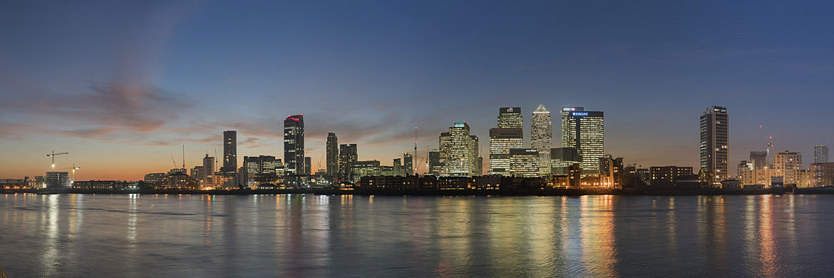 Photograph of Canary Wharf Panorama 3