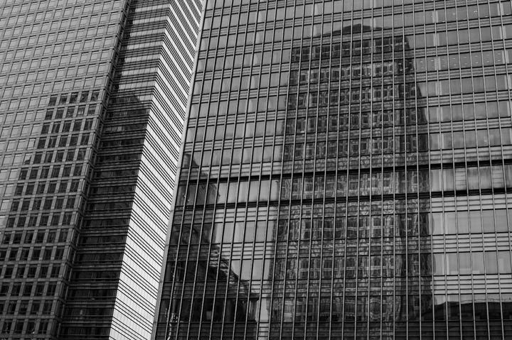 Photograph of Canary Wharf - Reflections