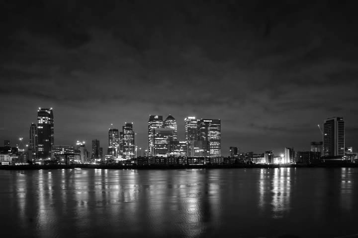 Photograph of Canary Wharf Skyline 2