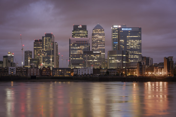 Photograph of Canary Wharf Skyline 4