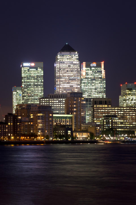 Photograph of Canary Wharf Skyline 7