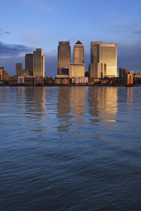 Photograph of Canary Wharf Skyline 8