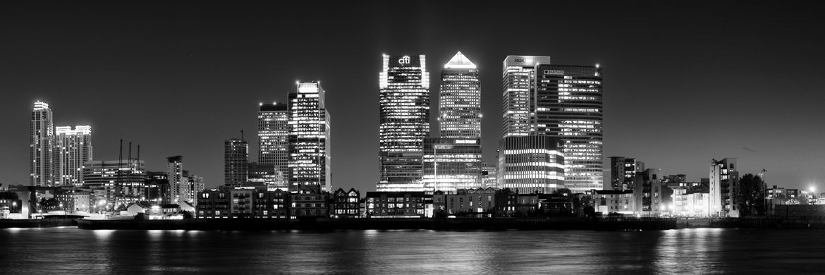 Photograph of Canary Wharf at Night 1