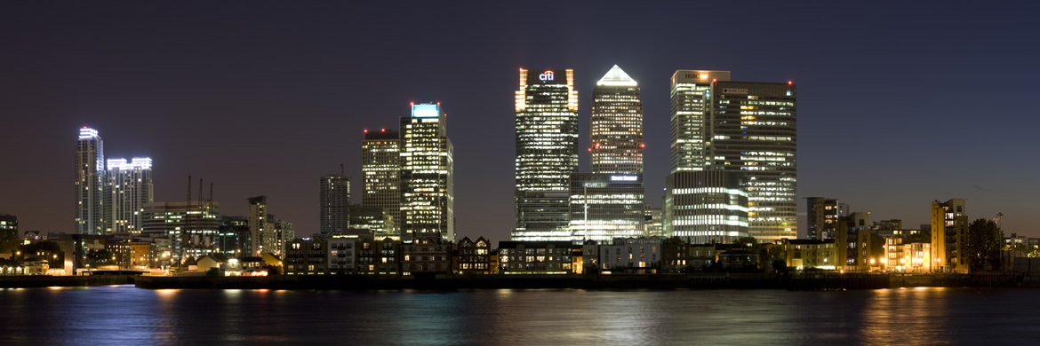 Photograph of Canary Wharf at Night 2