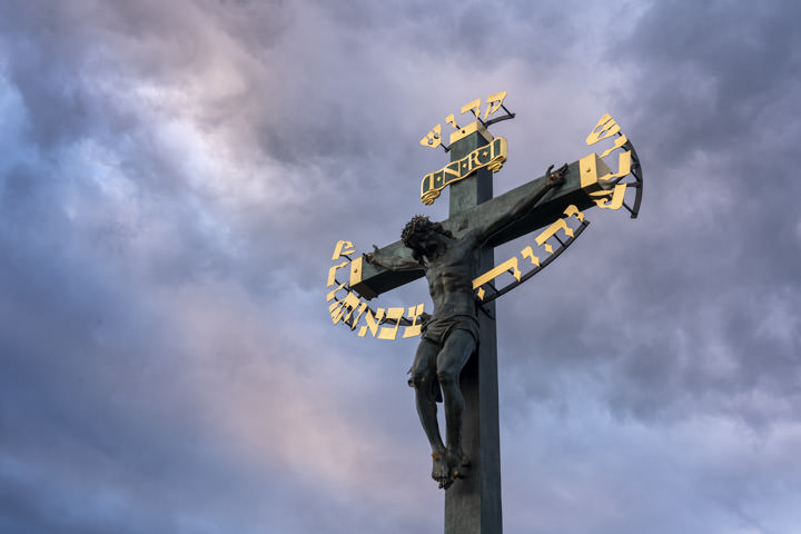 Photograph of Charles Bridge Crucifix