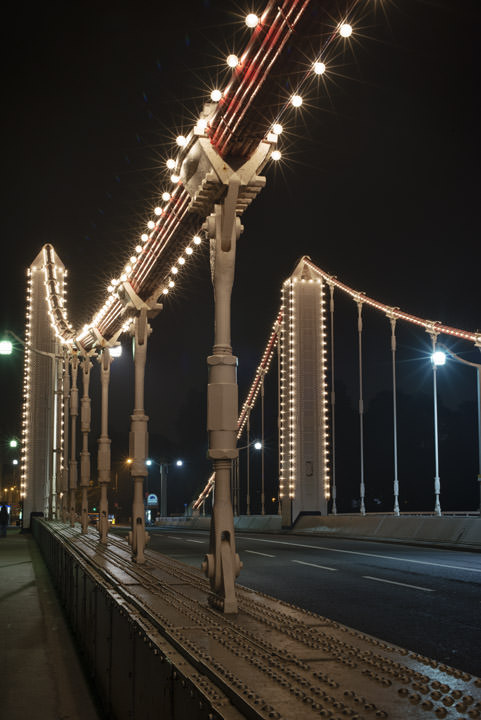 Chelsea Bridge at Night
