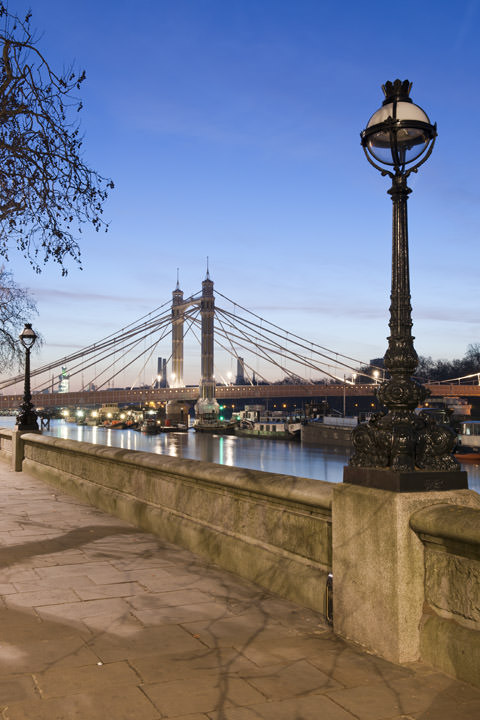 Albert Bridge viewed from Chelsea Embankment