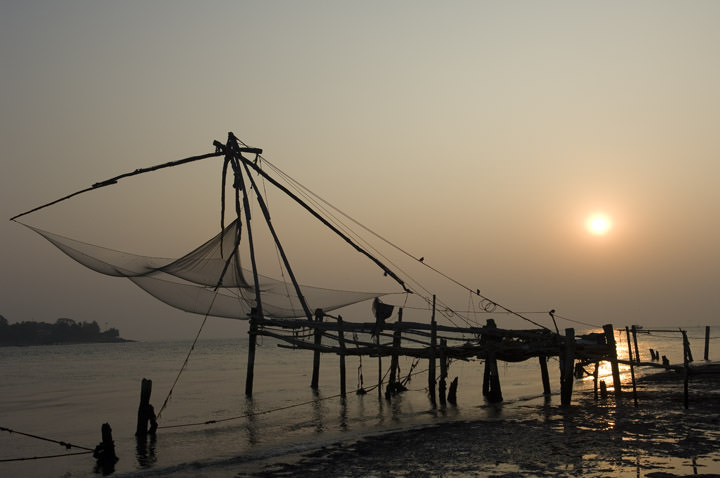 Photograph of Chinese Fishing Nets