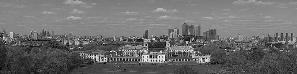 Photograph of City Skyline from Greenwich 1