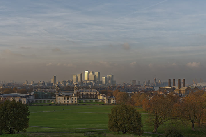 Photograph of City Skyline from Greenwich 2