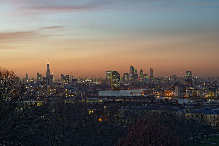 Photograph of City Skyline from Greenwich 5