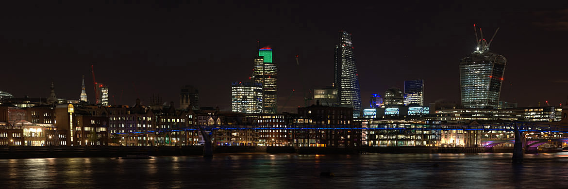 Panoramic view of London Skyline