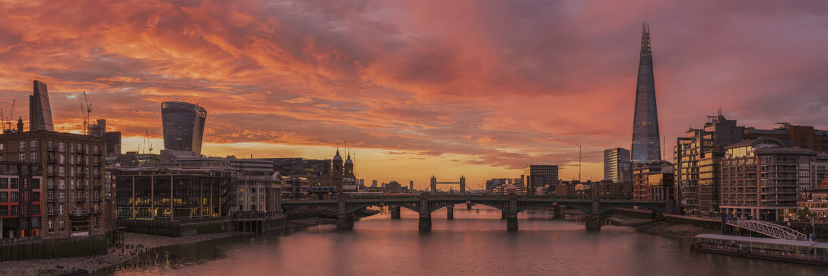 Photograph of City of London Sunrise.