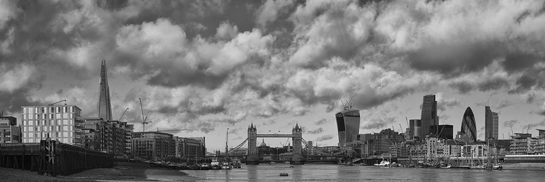 Black and White Panoramic Photographs of London Skyline  London Skyline Black And White