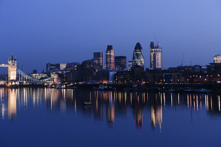 photograph of city skyline at dusk london photos. Black Bedroom Furniture Sets. Home Design Ideas