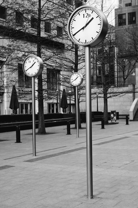 Photograph of Clocks - Canary Wharf