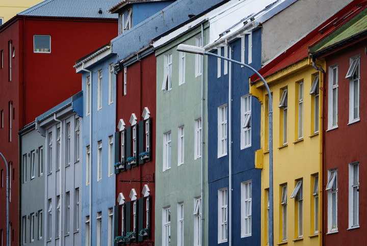 Photograph of Coloured Houses Reykjavik 2