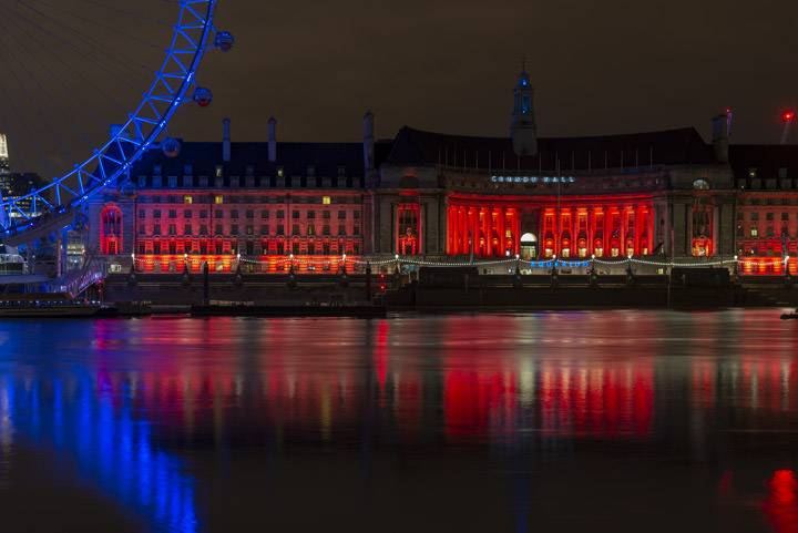 County Hall in Red