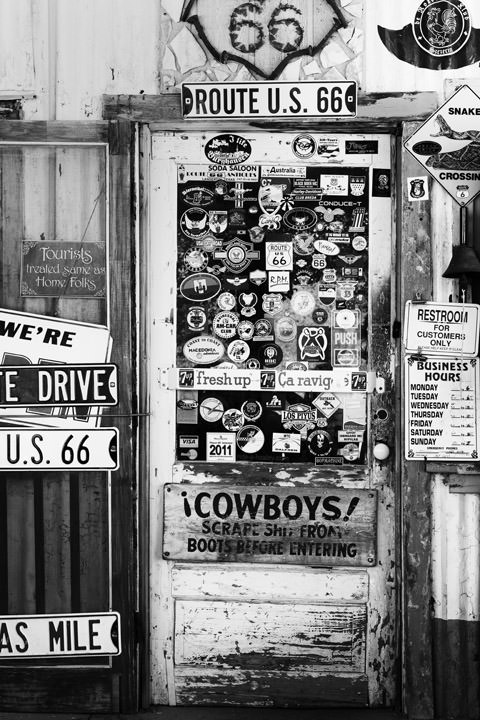 Cowboys -  Route 66  Hackberry - Arizona