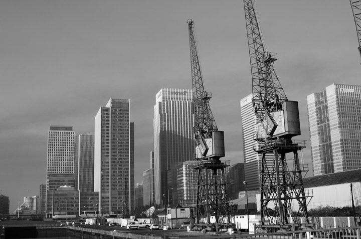 Photograph of Cranes - Docklands