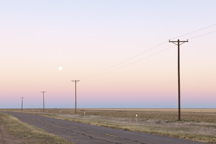 Dawn on  Route 66 in Texas USA