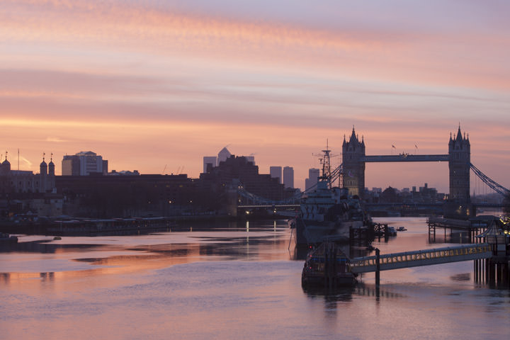 Dawn over Tower Bridge
