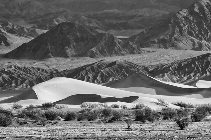 Photograph of Death Valley Sand Dunes 1