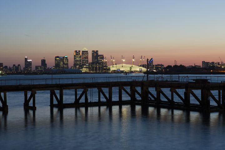 Docklands and Millennium Dome viewed from Greenwich