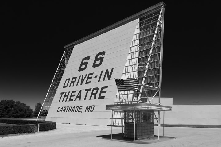 Drive in Theater -  Route 66 - Carthage - Missouri