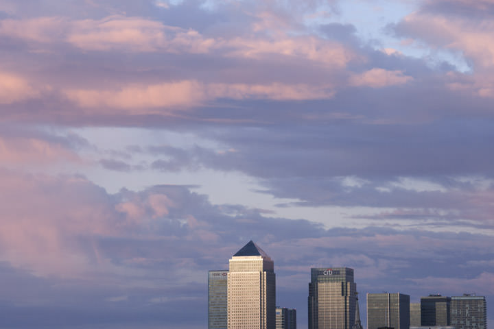 Dusk over Canary Wharf